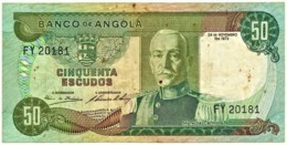 Angola - 50 Escudos - 24.11.1972 - Pick 100 - Série FY - Marechal Carmona - PORTUGAL - Angola