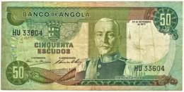 Angola - 50 Escudos - 24.11.1972 - Pick 100 - Série HU - Marechal Carmona - PORTUGAL - Angola