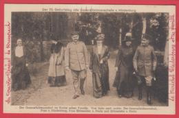 CPA-1917 - Le Maréchal HINDENBURG En Famille Pour Ses 70 Ans * Animation Top - INÉDITE **2 SCANS - Personnages