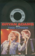 BRYAN ADAMS -TINA TURNER -IT'S ONLY LOVE-CUTS LIKE A KNIFE -DISCO VINILE 45 GIRI - Hard Rock & Metal
