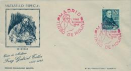 1948 , ED. 1011 , TIRSO DE MOLINA , SOBRE CONMEMORATIVO - 1931-50 Briefe U. Dokumente