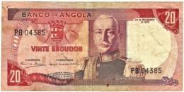 Angola - 20 Escudos - 24.11.1972 - Pick 99 - Série PB - Marechal Carmona - PORTUGAL - Angola