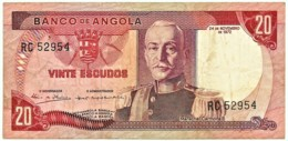 Angola - 20 Escudos - 24.11.1972 - Pick 99 - Série RC - Marechal Carmona - PORTUGAL - Angola