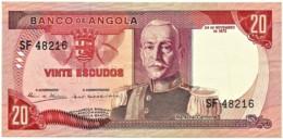 Angola - 20 Escudos - 24.11.1972 - Pick 99 - Série SF - Marechal Carmona - PORTUGAL - Angola