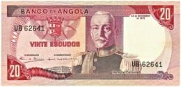 Angola - 20 Escudos - 24.11.1972 - Pick 99 - Série UB - Marechal Carmona - PORTUGAL - Angola