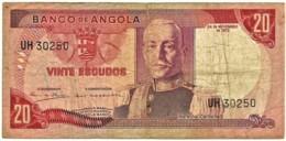 Angola - 20 Escudos - 24.11.1972 - Pick 99 - Série UH - Marechal Carmona - PORTUGAL - Angola