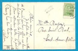 137 Op Kaart Met Als Aankomst Naamstempel SART-DAME-AVELINES Als Noodstempel - Postmark Collection