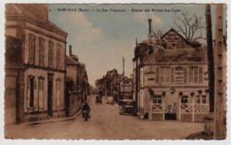 S44-019 Damville - La Rue Principale - Hôtel Du Point-du-Jour - Voyagé En 1943 - Other Municipalities