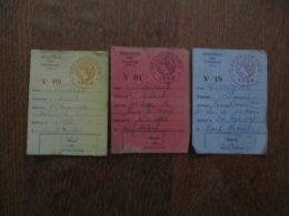 MINISTERE DES FINANCES VELOCIPEDES 1952,1953 ET 1954 - Steuermarken