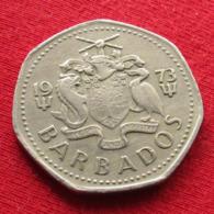 Barbados 1 One Dollar 1973 KM# 14.1  Barbades Barbade - Barbados