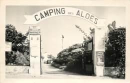 JUAN LES PINS L'ENTREE DU CAMPING DES ALOES 1955 - Francia