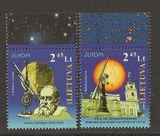 "LITUANIA / LITHUANIA /LITAUEN /LITUANE - EUROPA 2009 - TEMA ""ASTRONOMIA"" - SERIE De 2 V.. DENTADO (PERFORATED) - Europa-CEPT"