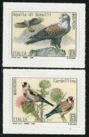 "ITALIA / ITALY / ITALIEN   -EUROPA 2019 -NATIONAL BIRDS.- ""AVES -BIRDS -VÖGEL-OISEAUX""- SERIE De 2 TIMBRES - 2019"