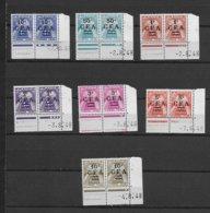 REUNION PAIRE COINS DATES TAXE 36/42 LUXE NEUF SANS CHARNIERE - Réunion (1852-1975)