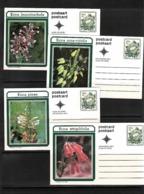 South Africa 1977 Flowers Set Of 10 Different Postal Stationery Postcards MNH - Pflanzen Und Botanik