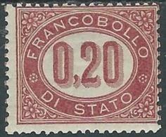 1875 REGNO SERVIZIO DI STATO 20 CENT MH * - RB8-7 - Dienstpost