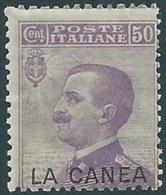 1907-12 LEVANTE LA CANEA EFFIGIE 50 CENT MNH ** - RB6-4 - 11. Oficina De Extranjeros