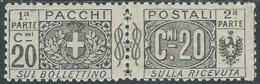 1914-22 REGNO PACCHI POSTALI 20 CENT MH * - RB14-7 - Paketmarken