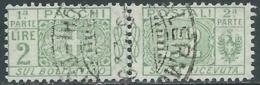 1914-22 REGNO PACCHI POSTALI USATO 2 LIRE - RB14-9 - Paketmarken