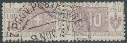 1914-22 REGNO PACCHI POSTALI USATO 10 LIRE - RB14-10 - Paketmarken