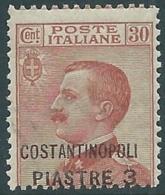 1922 LEVANTE COSTANTINOPOLI EFFIGIE 3 PI SU 30 CENT MNH ** - RB6-4 - 11. Auslandsämter
