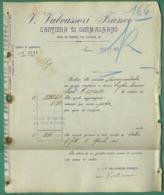 Italie Turin Torino Valvassori Franco Papeterie Cartiera Di Germagnano 1905 - Italy