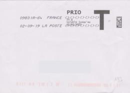 Toshiba 09831A-64 Du 02-09-19 (suffixe 64) 7 Signes Inférieurs Et Supérieurs Env. Prio T - Marcofilie (Brieven)