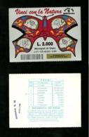 Gratta E Vinci - Vinci Con La Natura Formato Grande - Rosso Lotto 147 - Biglietti Della Lotteria