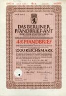 Pfandbrief / 1942 / Tausend Reichsmark, Berliner Pfandbrief-Amt (1049-30) - Bank & Versicherung
