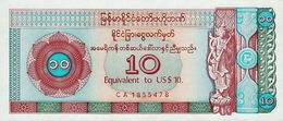 MYANMAR P. FX3 10 D 1993 XF - Myanmar