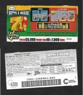 Gratta E Vinci - Sette E Mezzo - Lotto 1001 - Biglietti Della Lotteria