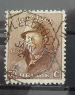 Roi Casqué COB 174 Belle Oblitération Télégraphique Willebroeck - 1919-1920 Roi Casqué