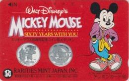 Télécarte NEUVE Japon / 110-51231 - DISNEY - MICKEY MOUSE ** SIXTY YEARS WITH YOU ** - Japan MINT Phonecard - Disney