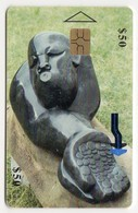 ZIMBABWE REF MV CARDS ZIM-37 50$ SCULPTURE 1 - Simbabwe