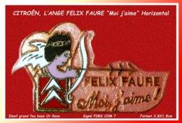 "SUPER PIN'S CITROËN :"" La Version Email Grand Feu Or Rose"" De L'ANGE FELIX FAURE Signé PIMS COM 7, Format 2,8X1,5cm - Citroën"