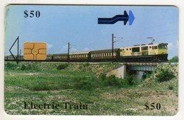 ZIMBABWE REF MV CARDS ZIM-29 50$ Electric Train - Simbabwe