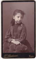 Enfant : Fille : Portrait : Photo - F. CHARDONNET - Lyon - ( Format C.D.V. ) - Alte (vor 1900)