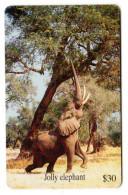 ZIMBABWE REF MV CARDS ZIM-24 30$ JOLLY ELEPHANT - Simbabwe