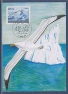 = La Protection Des Pôles Paysage Polaire Avec Albatros En Vol, Mâcon 28.03.09 N°4350 Carte Maximum 1er Jour - Preservare Le Regioni Polari E Ghiacciai