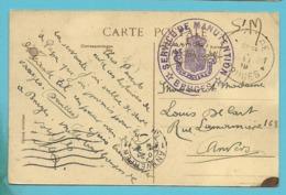 Kaart Stempel BRUGGE Met Stempel SERVICE DE MANUTENTION / BRUGES - Postmark Collection