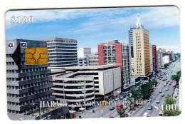 ZIMBABWE REF MV CARDS ZIM-28 100$ HARARE - Simbabwe