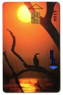 ZIMBABWE REF MV CARDS ZIM-36 100$ SUNSET LAKE KARIBA - Simbabwe