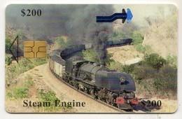 ZIMBABWE REF MV CARDS ZIM-31 200$ Steam Engine - Simbabwe