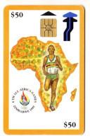 ZIMBABWE REF MV CARDS ZIM-05 50$ ORANGE BORDER - Simbabwe
