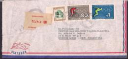 Uruguay - 1964 -  Lettre - Timbres Des Jeux Olympiques Japon 1964 - Uruguay
