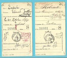 """2 Kaarten """"Caisse Générale"""" Met 2 Verschillende Stempel HABAY-LA-NEUVE (2 Differents) - Postmark Collection"""