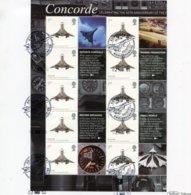 2009 GB Concorde 40th Anniversary Smiler Sheet. Beham Fliton Bristol Limited Edition Card - 1952-.... (Elizabeth II)