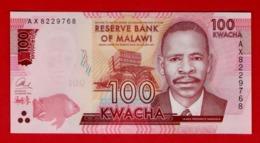 2016 MALAWI 100 KWACHA 2016 P-59-NEW UNC - Malawi