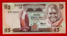 ZAMBIA 5 KWACHA (1980-1988) P-25d UNC NEUF - Zambia