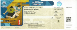 Rugby World Cup Japan 2019.Ticket Match Australia-Wales.29 Sept.Tokyo Stadium - Rugby